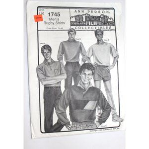 UNCUT Stretch & Sew 1745 sewing pattern men rugby
